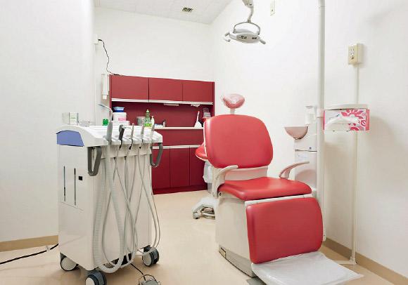 ランドリー室を改装した周術期室。