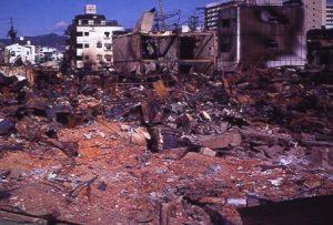 被災直後の神戸市