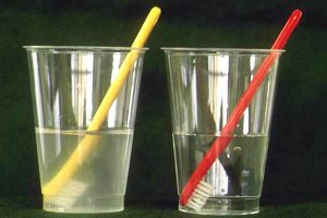 コップの水の汚れ